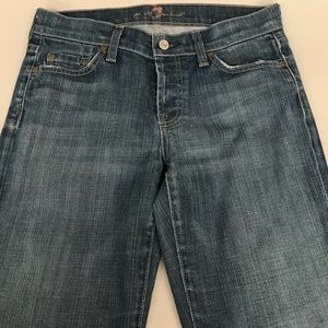7 for all mankind boy cut button up denim size 27